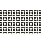 160 black rhinestone sticker