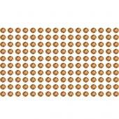 160 brown rhinestone sticker