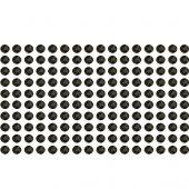 160 Estrás adhesivos negro