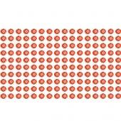 160 red rhinestone sticker