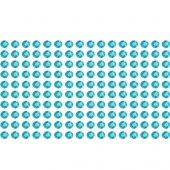 160 Strass Stickers turchese