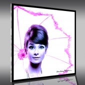 Acrylglasbild Audrey Hepburn