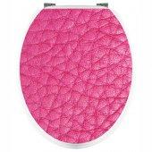 Adesivo copri WC pelle rosa