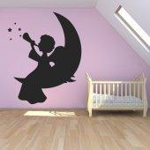 Adesivo Murale angelo luna