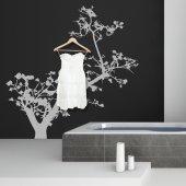 Adesivo Murale Appendiabiti albero