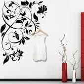 Adesivo Murale Appendiabiti barocco