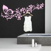 Adesivo Murale Appendiabiti farfalla