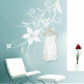Adesivo Murale Appendiabiti fiore