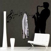 Adesivo Murale Appendiabiti jazzman