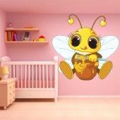 Adesivo Murale bambino ape miele