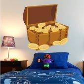 Adesivo Murale bambino baule del tesoro