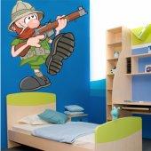 Adesivo Murale bambino cacciatore
