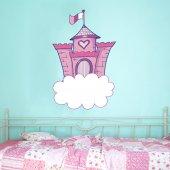 Adesivo Murale bambino castello nuvola
