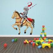 Adesivo Murale bambino cavaliere