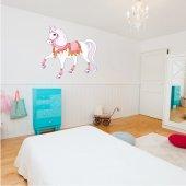 Adesivo Murale bambino cavallo principesco