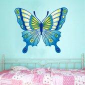 Adesivo Murale bambino farfalla