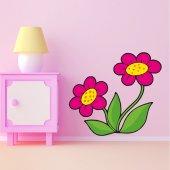 Adesivo Murale bambino fiori