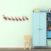 Adesivo Murale bambino formiche