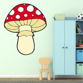 Adesivo Murale bambino fungo