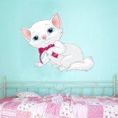 Adesivo Murale bambino gatto