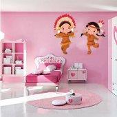 Adesivo Murale bambino giovani indiani