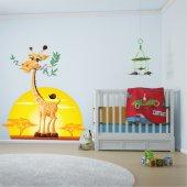 Adesivo Murale bambino giraffa