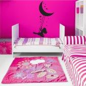 Adesivo Murale bambino luna
