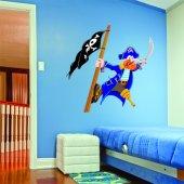 Adesivo Murale bambino pirata e bandiera