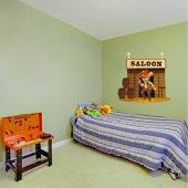 Adesivo Murale bambino saloon