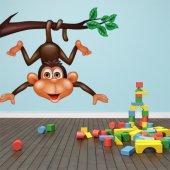 Adesivo Murale bambino scimmia