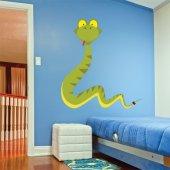 Adesivo Murale bambino serpente