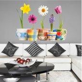 Adesivo Murale bambino vaso di fiori