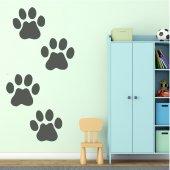Adesivo Murale bambino zampe di cane