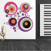 Adesivo Murale cerchio multicolore