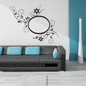 Adesivo Murale cornice fiori