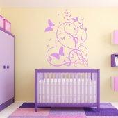 Adesivo Murale cuore farfalla