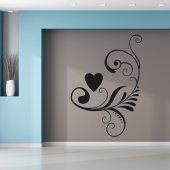 Adesivo Murale cuore ornamentale