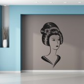 Adesivo Murale donna asiatico