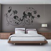 Adesivo Murale fiore asiatico