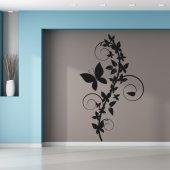 Adesivo Murale fiore farfalle