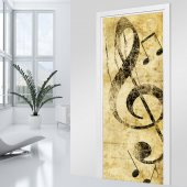 Adesivo Murale porta musica