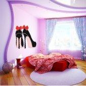 Adesivo Murale scarpa nodo rosso