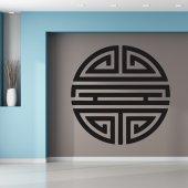 Adesivo Murale simbolo rotondo asiatico