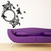 Adesivo Murale specchio farfalle