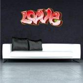 Adesivo Murale Street Art love