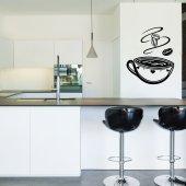 Adesivo Murale tazzina di caffè