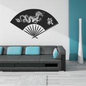 Adesivo Murale ventaglio drago