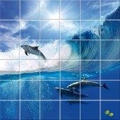 Adesivo per piastrelle delfino
