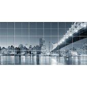 Adesivo per piastrelle ponte new york