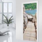 Adesivo per porte ponte di legno